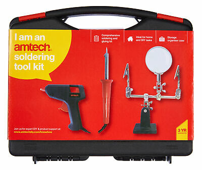 New Soldering Iron Tool Kit Glue Gun Helping Hand Magnifier Hobby Electricians