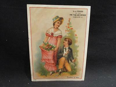 Tunte's Fine Teas & Coffee Victorian Trade Card #393 Flowers of May