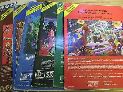 D & D and Advanced Dungeons & Dragons Modules Multi-List.
