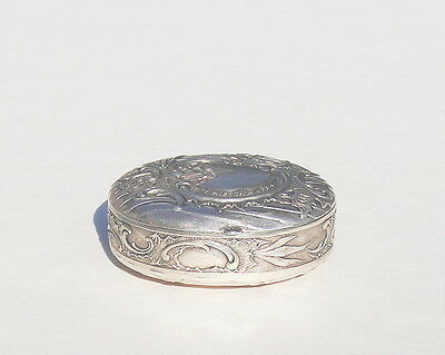 Antique Silver Pill Box with Hallmarks