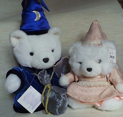 1999 Dayton Hudson Miss Santa Bear and Wizard Bear - With Tags and Bags