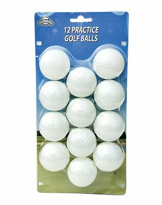 OnCourse Practice Plastic Dimpled Golf Balls - 12 Pack - White