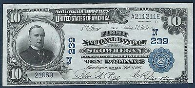 "1902 Series *Skowhegan* $10 National Bank Note *Charter #239* ""XF"""