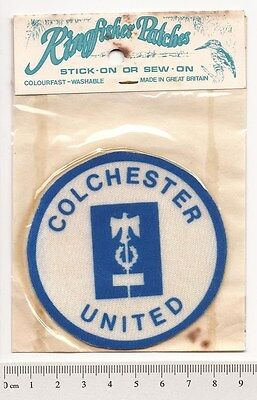 COLCHESTER UNITED 1970s RETRO STICK or SEW-ON PATCH