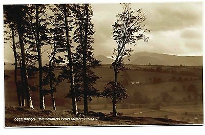 Early Real Photo Postcard . Brecon. The Beacons From Slwch . Wales