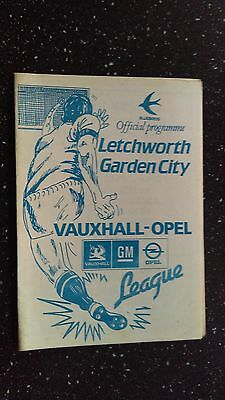 Letchworth Garden City V Stevenage Borough 1986-87