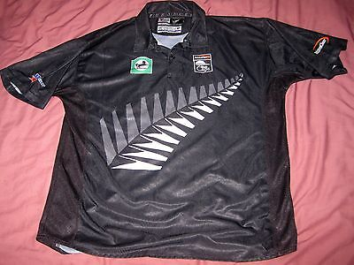 OFFICIAL NEW ZEALAND CRICKET SHIRT: XL: EXCELLENT THE BLACK CAPS by WSTAR