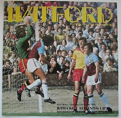 Watford v Leicester City 79/80
