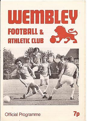 Wembley v Hampton Middlesex Senior Cup 78/79