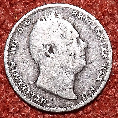 1834 William IV .925 Silver Sixpence -- Collect / Filler Grade & Detail