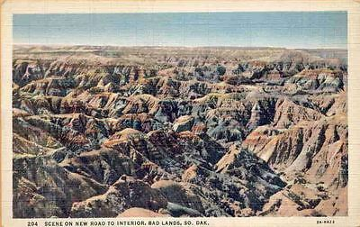 (kr7) Badlands: Scene of New Road to Interior