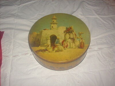 vintage burtons biscuits tin with camels design