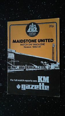 Maidstone United V Wealdstone 1980-81