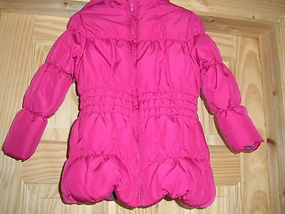 Girls Pink Quilted Hooded Anorak - Aged 2-3 Years - George - Used