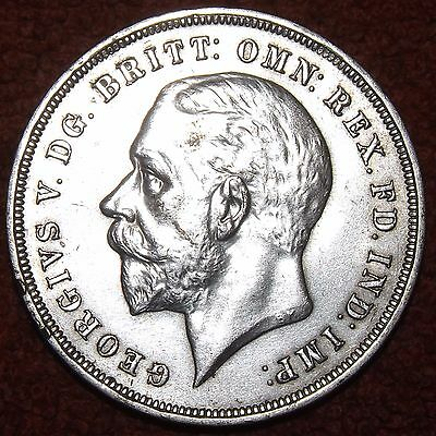 1935 George V Silver Crown -- EXCELLENT COLLECTIBLE GRADE & DETAIL