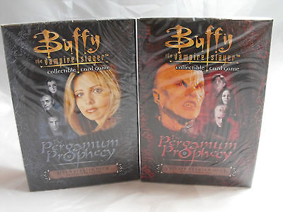 Buffy The Vampire Slayer Ccg Pergamum Prophecy Hero And Villain Starter Decks