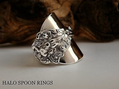 Chunky Ornate Ladies Sterling Silver Spoon Ring  * The Perfect Christmas Gift *