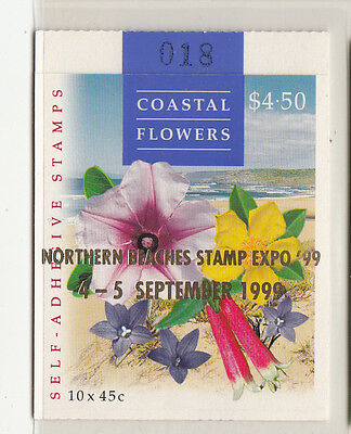 "1999 Coast Flowers StampBooklet Optd:Northern Beaches Expo'99""S/Pfeffer B221b(1)"