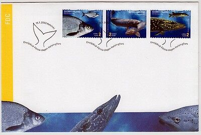Finland: Fauna: Fishes Set 2003 Fdc