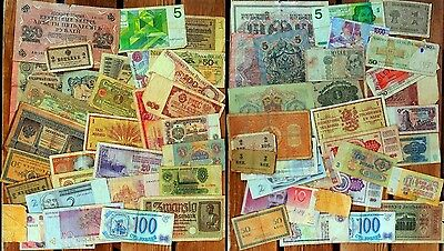 31 DIFFERENT BANKNOTES 1898-2006:RUSSIA/ESTONIA/FINLAND/GERMANY/ITALY/POLAND etc