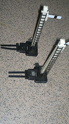 two hornby signals with levers oo gauge