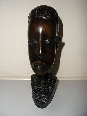 """Stunning Carved Wooden Head 7.5"""" Tall"""