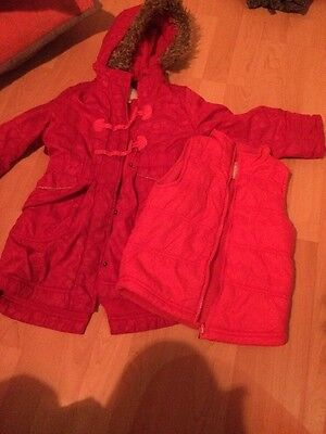 Girls Pink Spotty Extra Warm Parker Cost With Body Warmer Vertbaudet 6 Years