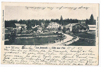 Cote Aux Fees, Les Jeannets  - Undivided Back Card - Posted 1902 By Rossi-Vogt