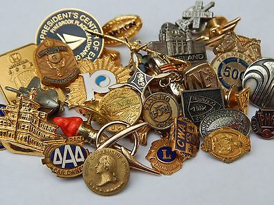 Vintage RCA Boeing Employee Anniversary Phone Honda Fraternity Lions Pin Lot