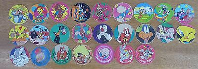 Old Walkers Tazos x 25 bundle Loony Tunes Pogs 1995 Warner Bros.