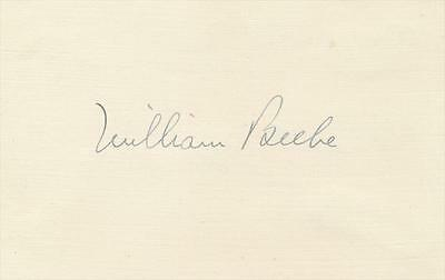William Beebe- 1930's Signed Index Card