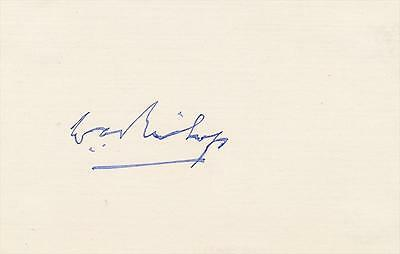 """Canadian Flying Ace William """"Billy"""" Bishop- 1930's Signed Index Card"""