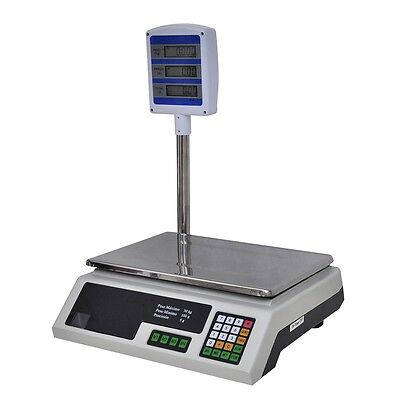 Plattformwaage Industriewaage Digitalwaage Paketwaage Waage LED/LCD max. 30 kg #