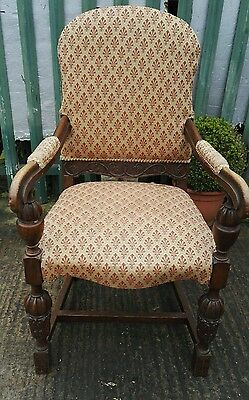 Antique Victorian Attractive Comfy Library Chair Bargain £95
