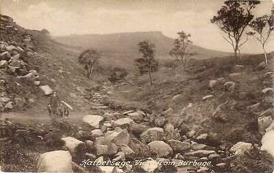 Lovely Old Frith Postcard - Hathersage View From Burbage - Derbyshire 1929