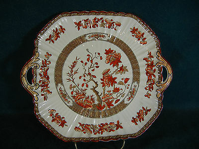 Copeland Spode Indian India Tree Old Mark Discounted Handled Cake / Cookie Plate