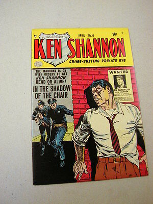 """Nice Fine/vf Copy Of """"ken Shannon"""" #10 4/53!  Reed Crandall Cover Art!"""