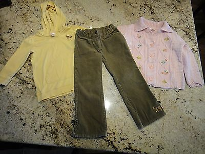 Gymboree Girls size 4/4T Equestrian Club 6 pc Lot Shirts Pants Sweater Hair Ties