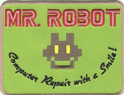 Mr Robot Fsociety Tv Show Embroidered Hook Patch