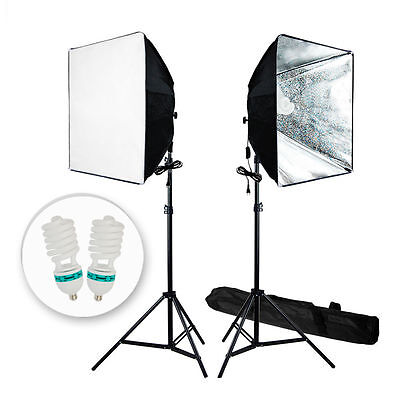 Photo Studio Video Photography Softbox Light Stand Continuous Lighting Kit