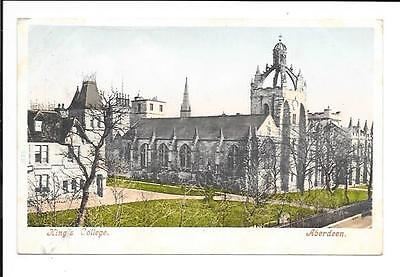 Old postcard: Scotland: 'King's College, Aberdeen'. Posted 1903.