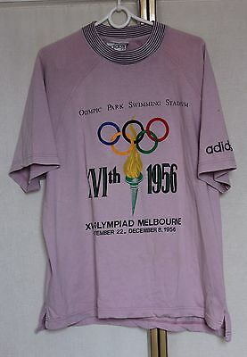 Vintage 80s Adidas Olympic Collection Melbourne 1956 T Shirt M