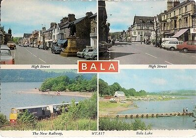 Splendid Old 4 Different View Postcard - Bala - Merionethshire 1978
