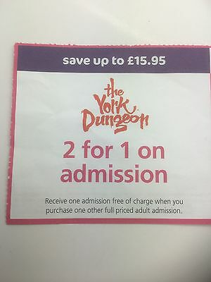 2 For 1 YORK DUNGEON ADMISSION TICKET SAVE 15.95 31/12/16
