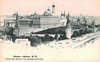 Moscow,Russia,General View of the Kremlin,Undivided Back,c.1901-06