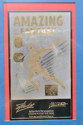 Marvel-Spider Man Amazing Fantasy 15 Gold and Sterling Reproduction Cover (TK)