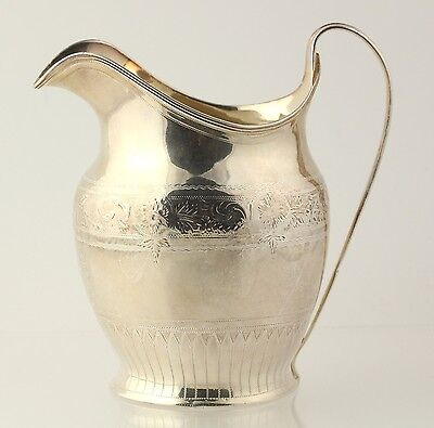 Sterling Silver Pitcher - Sterling Silver London 1797 Etched Floral Design Small
