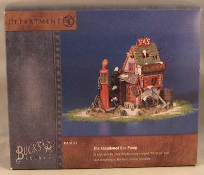 Dept 56 Snow Village Buck's County The Abandoned Gas Pump #55121 NIB
