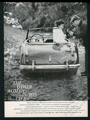 1960 Austin-Healey 3000 car father daughter photo vintage print ad