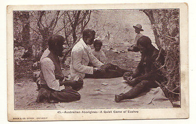 Australia Aboriginal - A Quiet Game of Euchre - Aborigines
